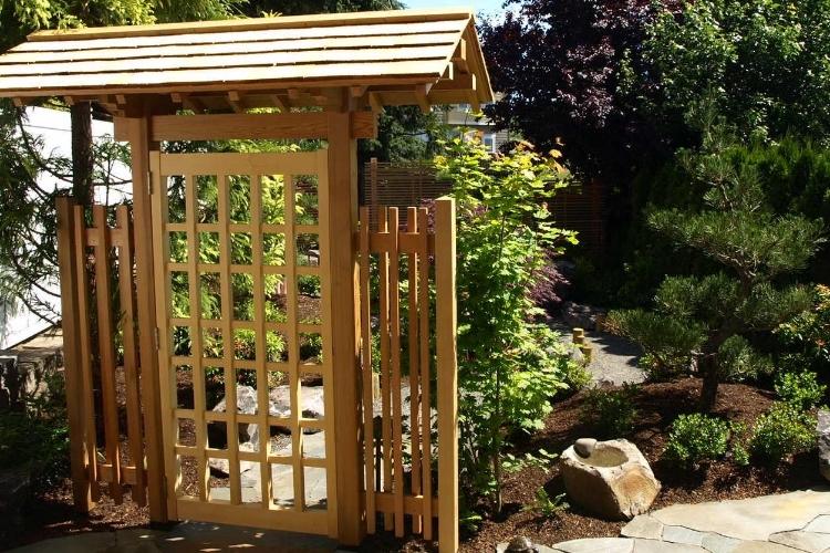 Japanese garden, with landscape design by Mike Ellena.