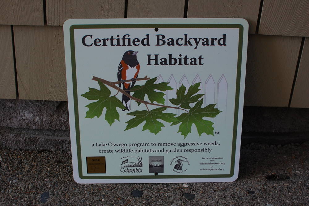 One of our Lake Oswego landscapes is certified.