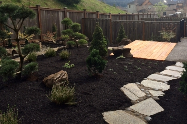 No design needed for this Happy Valley backyard landscape.