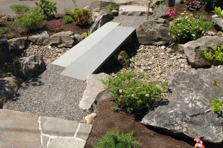 Front yard rain garden in SW Portland.