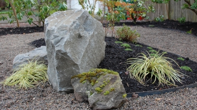 Landscaping Rock Portland : How to use boulders in landscapes