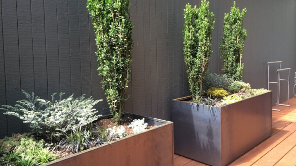 nice steel planters