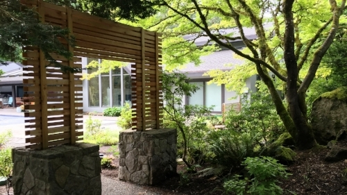 custom cedar moon gate japanese garden