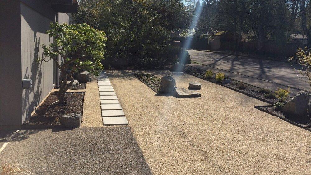 A modern dry garden in SW Portland.