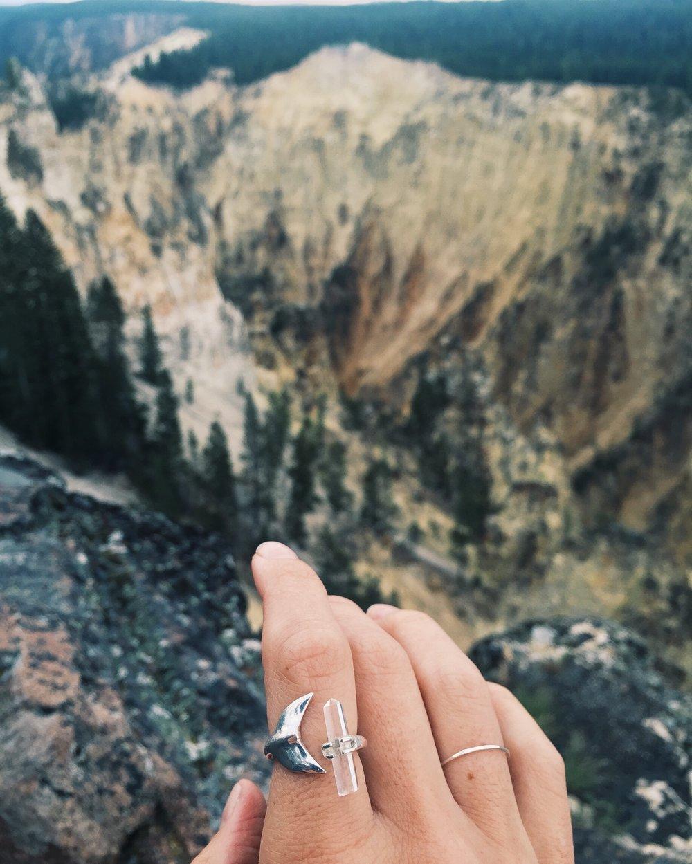 Overlooking Yellowstone's Grand Canyon.