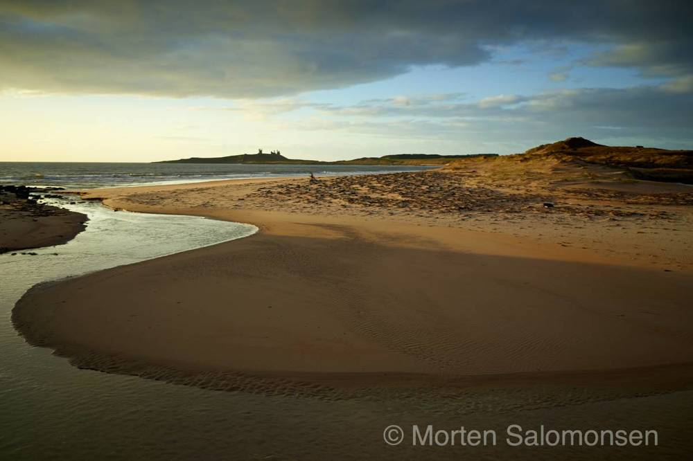 Embleton Bay looking towards Dunstanburgh Castle