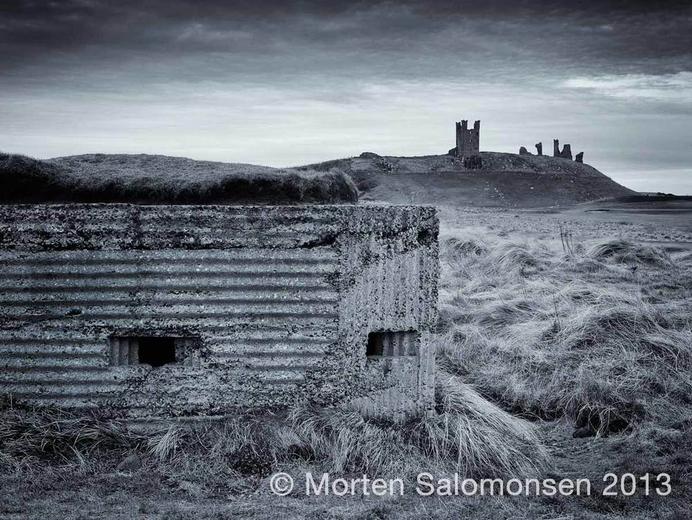 WWII pillbox bunker north of Dunstanburgh Castle
