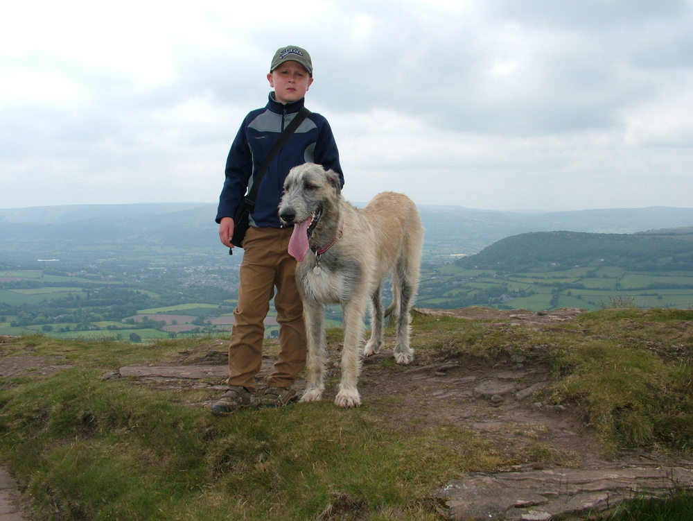 Sam and Ellie at the top of the Skirrid Mountain in Wales July 2013