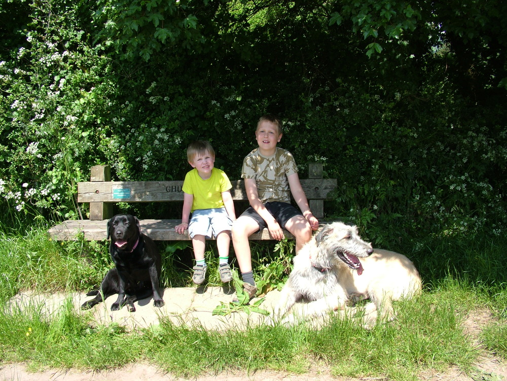 Sam and Ben with Ellie and Wilma