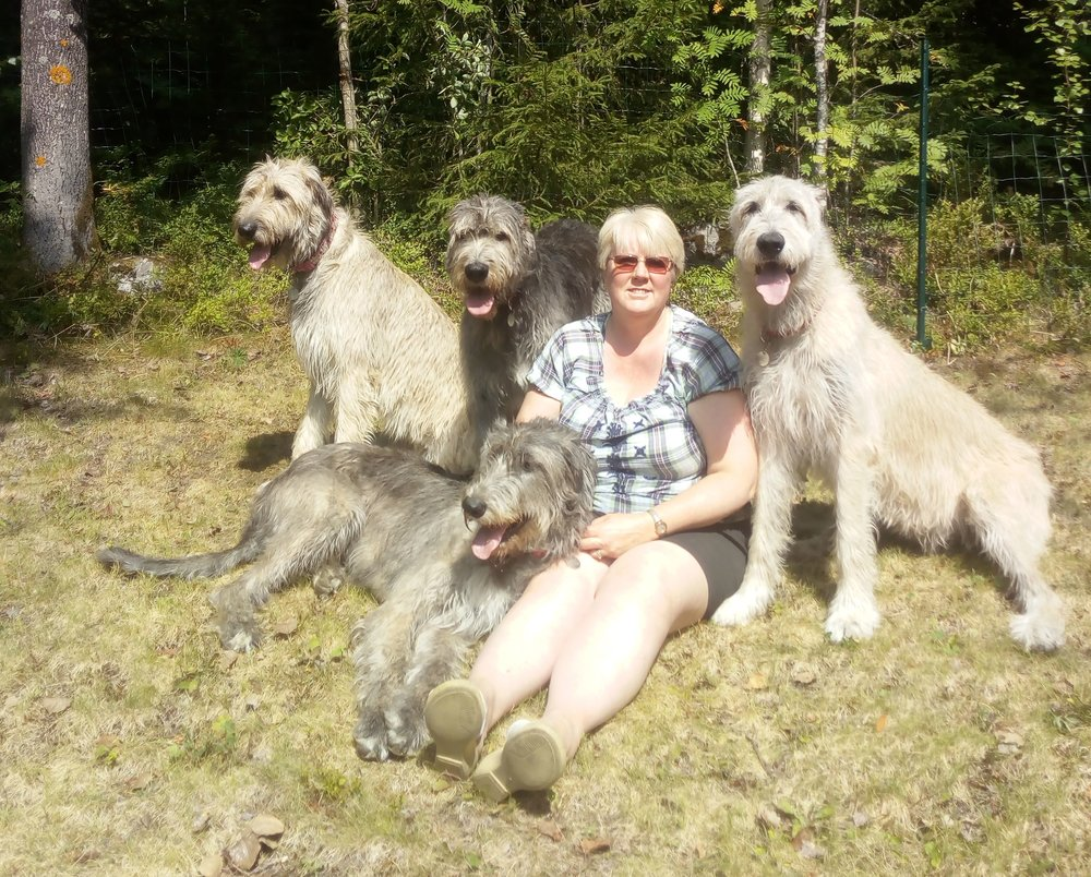 me and the girls in the garden enjoying the summer overijse wolfhounds now in sweden - The Girls In The Garden