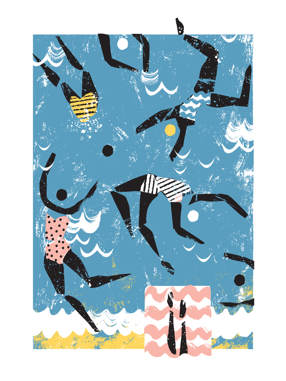 Sea Swimmers. 30 x 40 cm giclee print. Edition of 50. £40