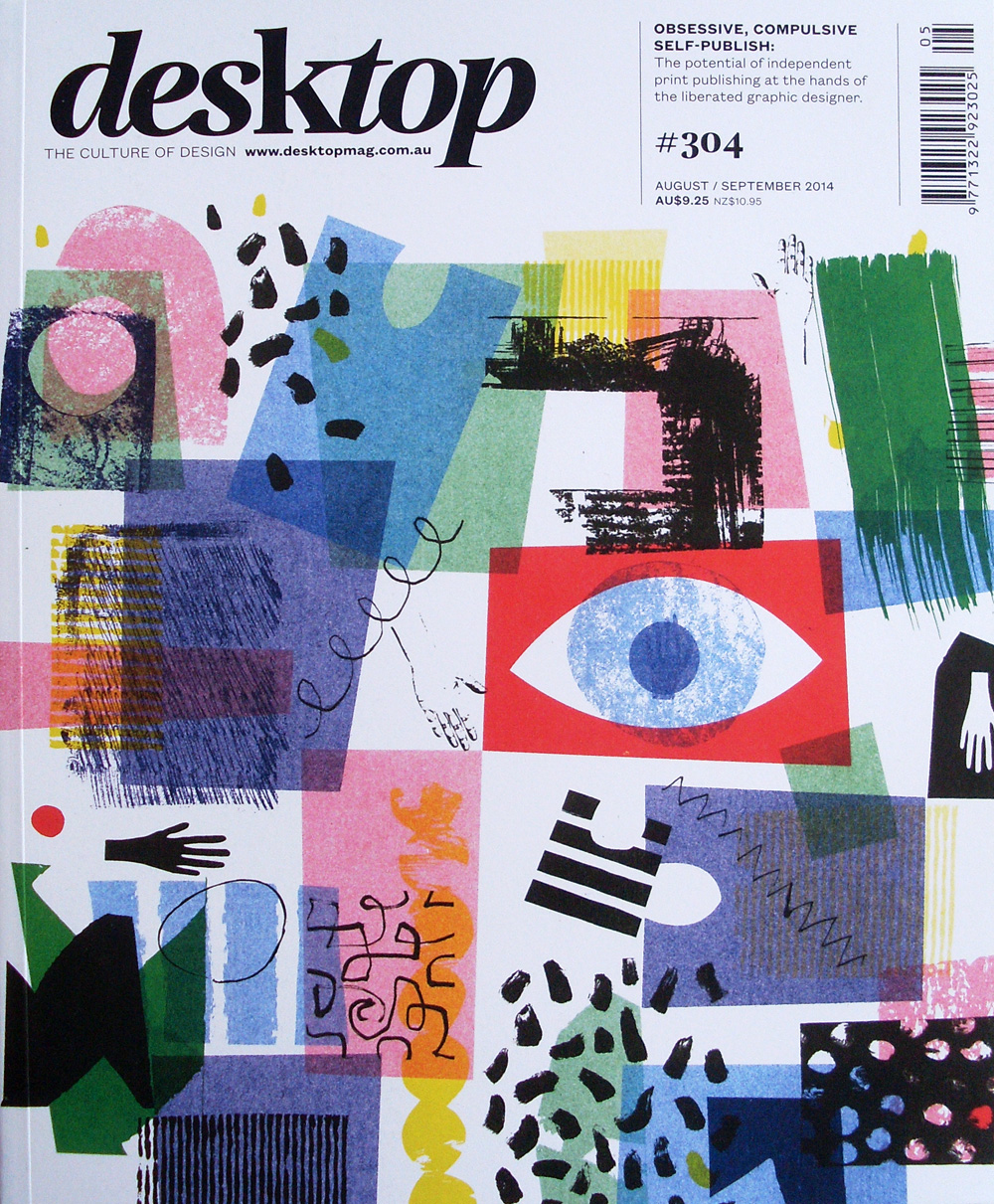 Cover for the Australian Graphic design magazine Desktop