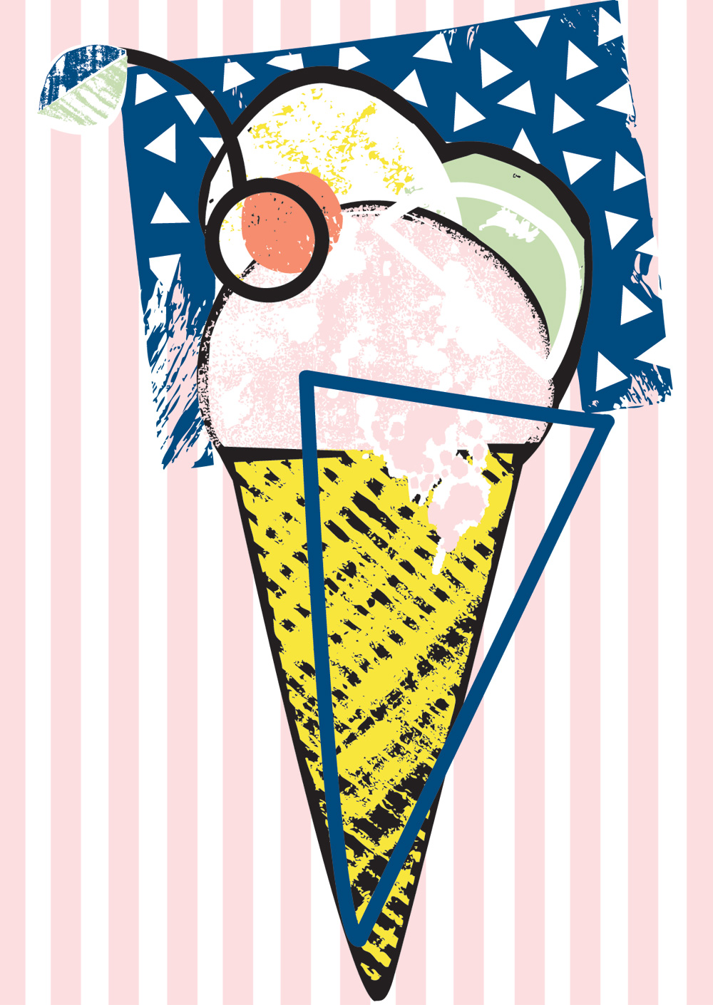 E Cox ice cream card