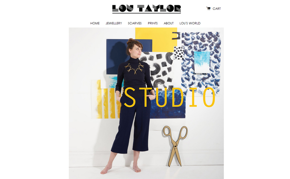 Working with designer and illustrator  Lou Taylor  to create a lookbook for her Studio range of jewellery. The inspiration was an artist's studio, creating a painterly collage backdrop to compliment the pieces including scissors and paint tubes. 2015