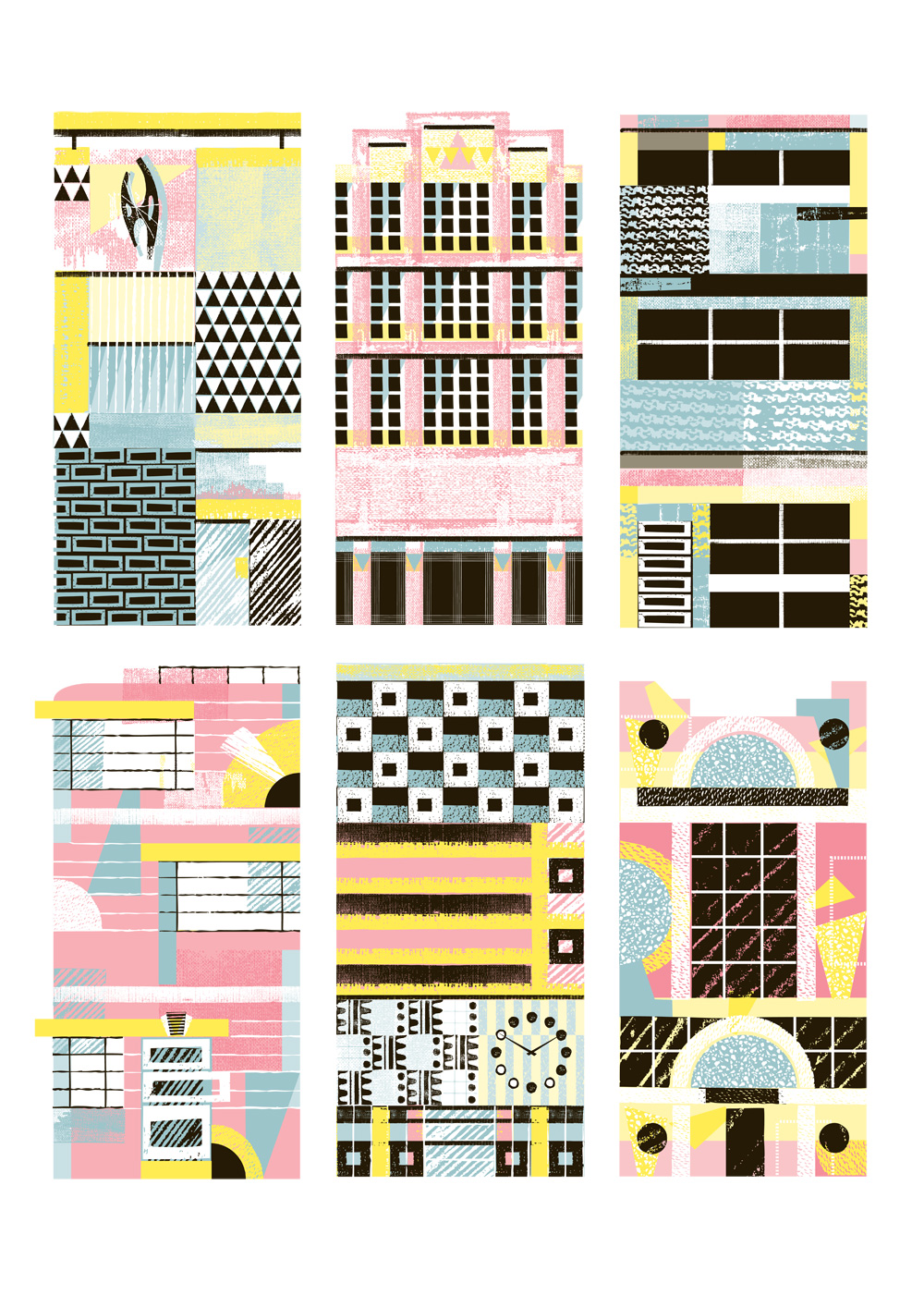 Buildings 3 Storeys giclee print. A2. £50