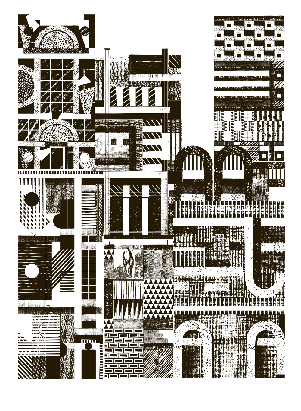 3 Storeys City screenprint. A2. £50. Created in collaboration with The Private Press