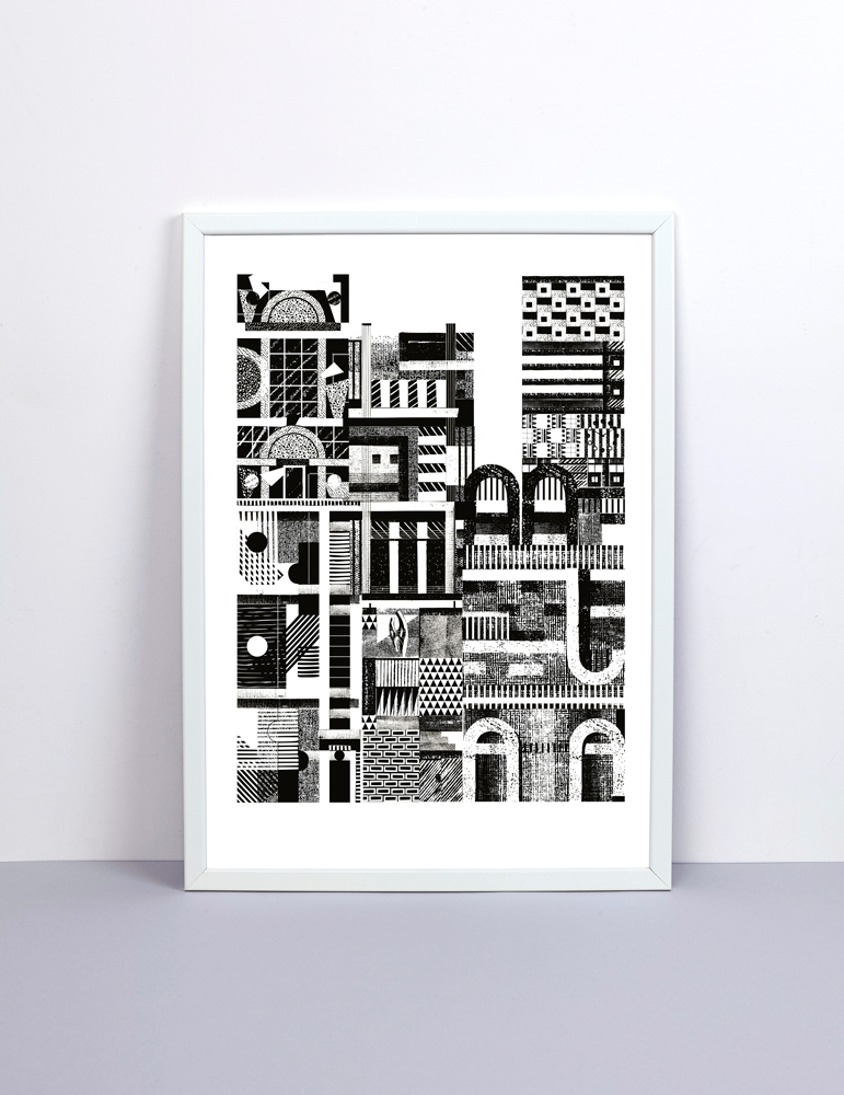 My city print made in conjunction with The Private Press is now available as part of Editions: 'Editions is a collection of exclusive, hand-pulled screen prints, featuring a carefully chosen selection of artworks by leading contemporary artists. Working collaboratively with the artists, Editions will showcase the possibilities of creative screen printing through the use of interesting inks, papers and techniques.' Visit The Private Press to find out more.