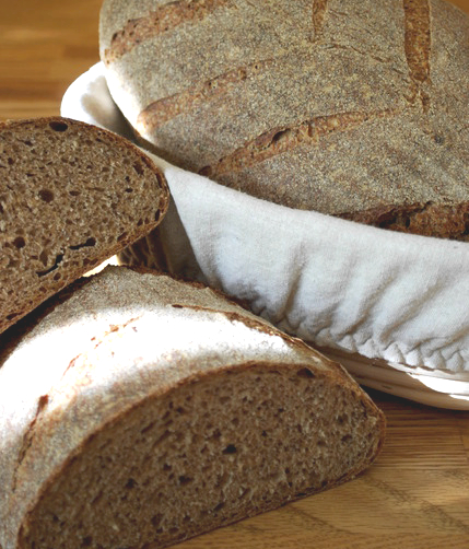 Bread made with teff and wheat.