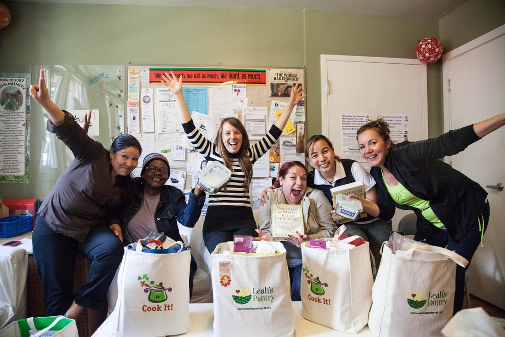 Autumn celebrates Cook It! Kit distribution with local moms emerging from homelessness.