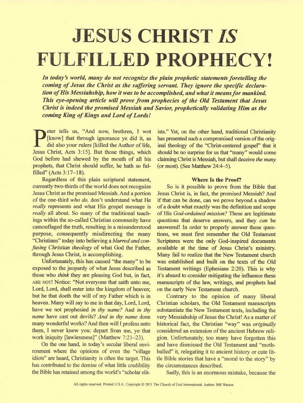 Prophecy Biblical Prophecy