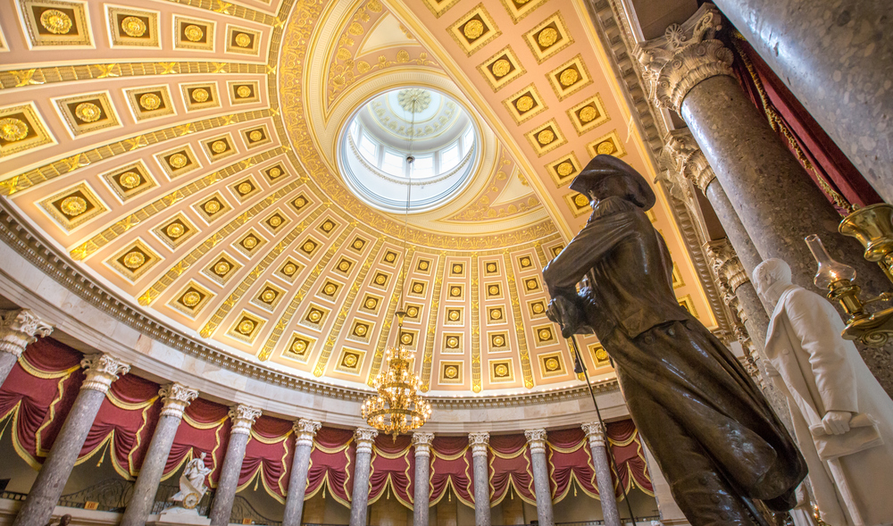U.S. Capitol Building - Statuary Hall to the Senate Wing.