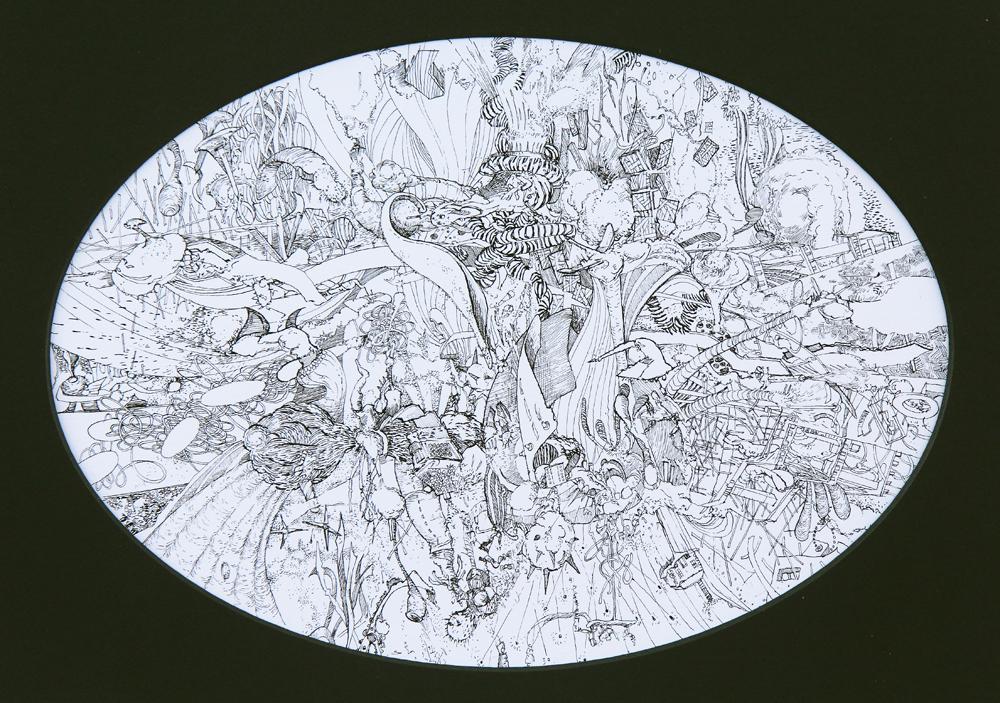 Nebula (Plenum V) Pen and ink on paper • 36cm x 27cm