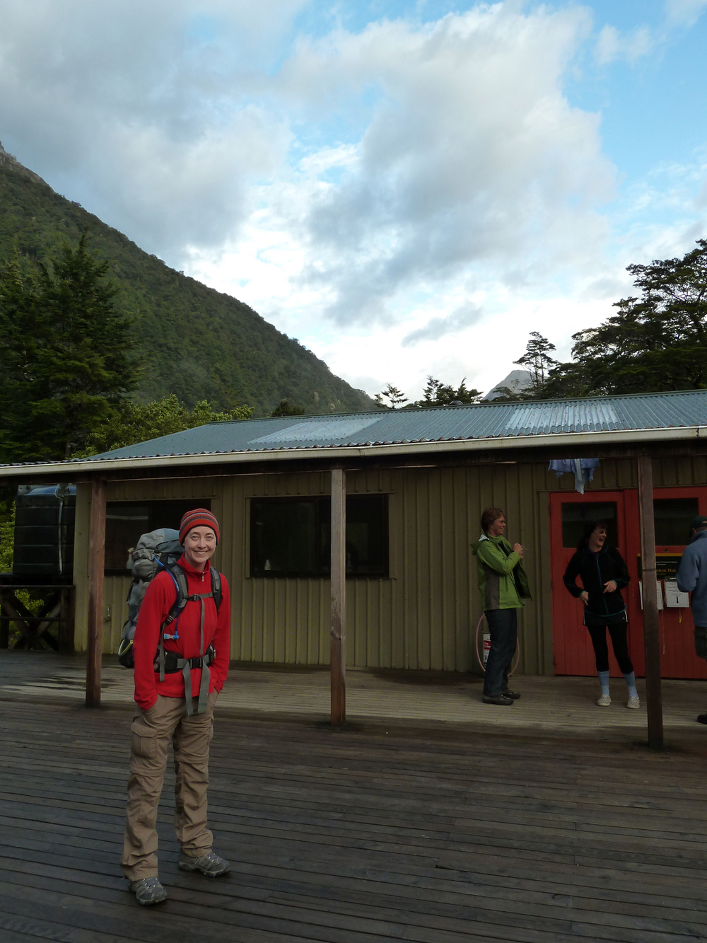 Departing Clinton Hut