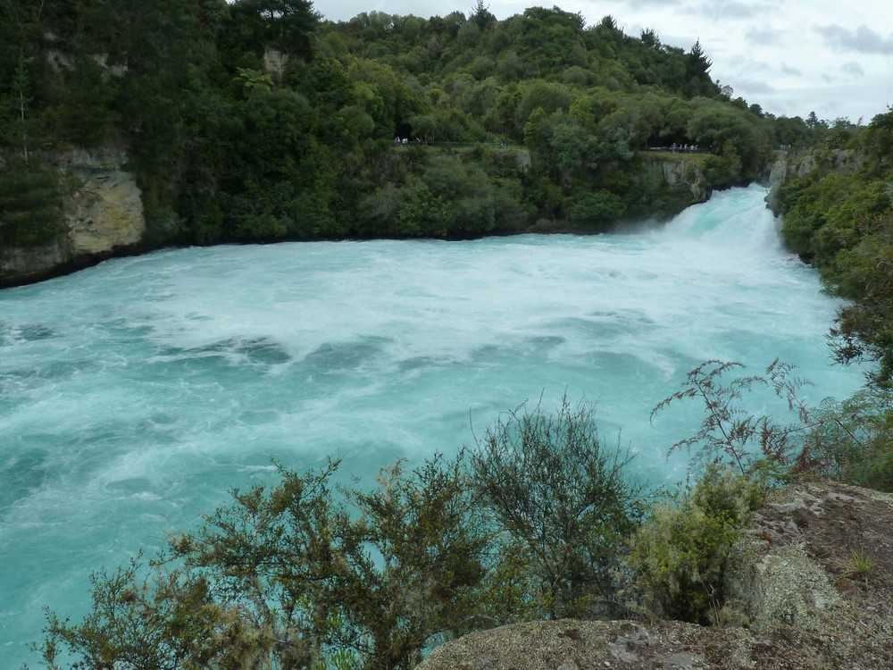 Icy Blue Waters Of Huka Falls
