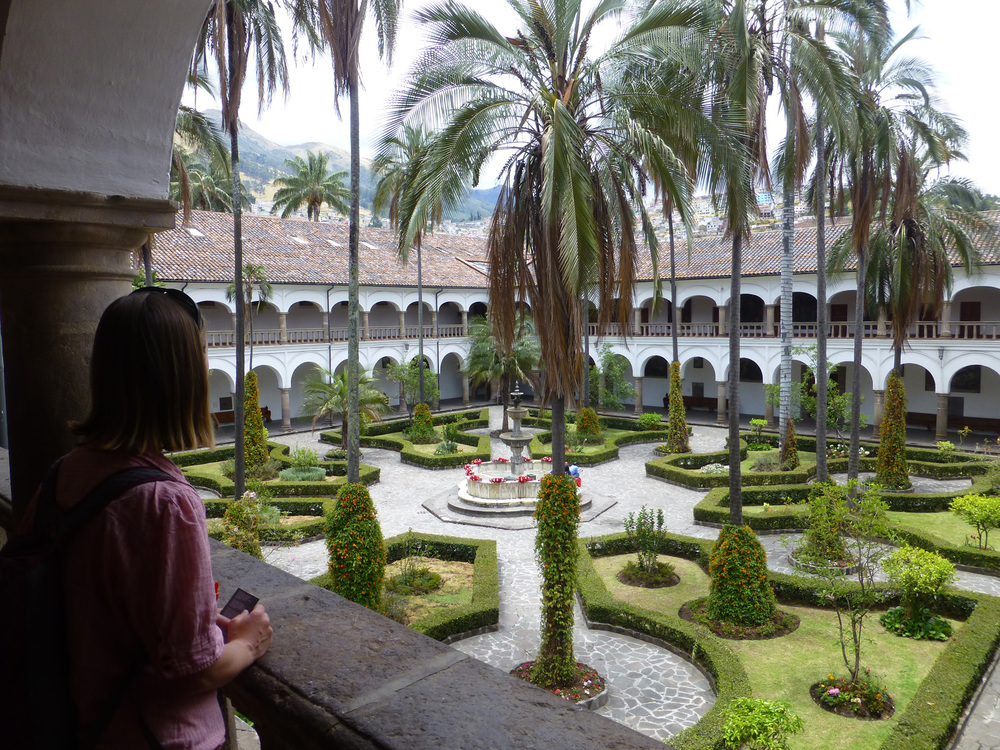 Interior courtyard of the San Francisco Convent