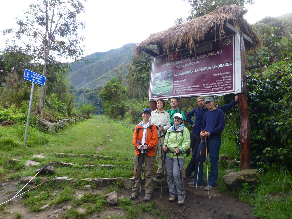 Joining the Inca trail network.