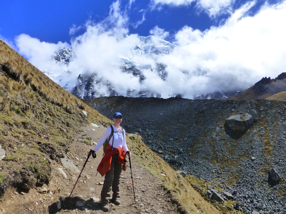 "My ""Yahoo"" moment with Mount Salkantay looking down with approval."