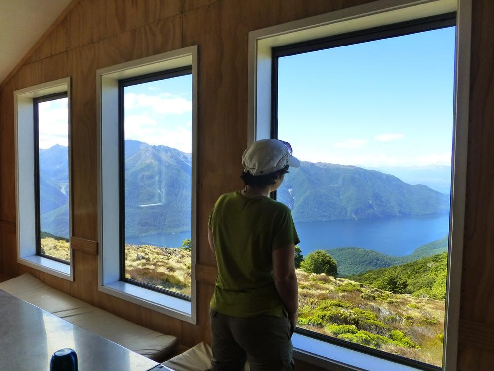 Inside Luxmore Hut