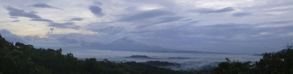 Sunrise Over Borobudur