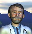 Dr Freeman: a handsome fellow