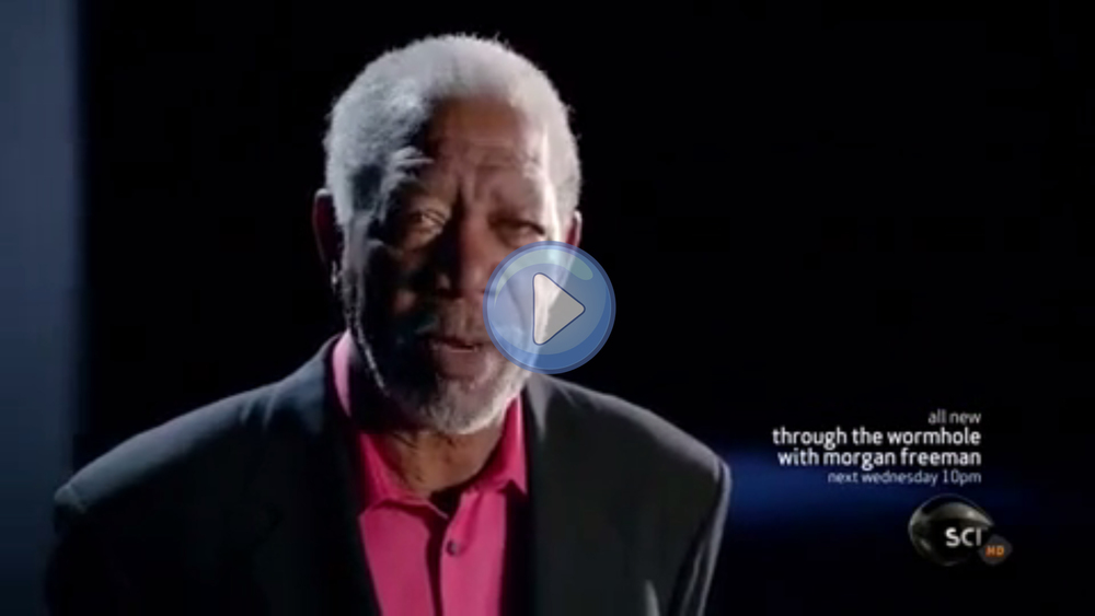 Morgan Freeman narrates and hosts TV show Through the Wormhole