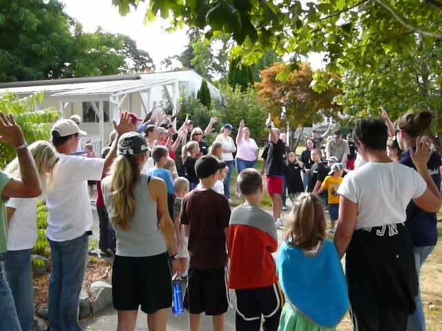 Our starting prayer in Forest Grove.jpg
