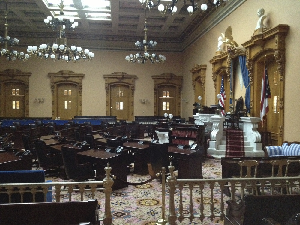 "Spent a good while praying over the Senate floor in Columbus, where a ""Heartbeat Bill,"" which was introduced and passed by Ohio's House months ago, a bill that would effectively end over 90% of the abortions in the state, has been stalled in the Senate. But God is on the move in Ohio! Hallelujah!"