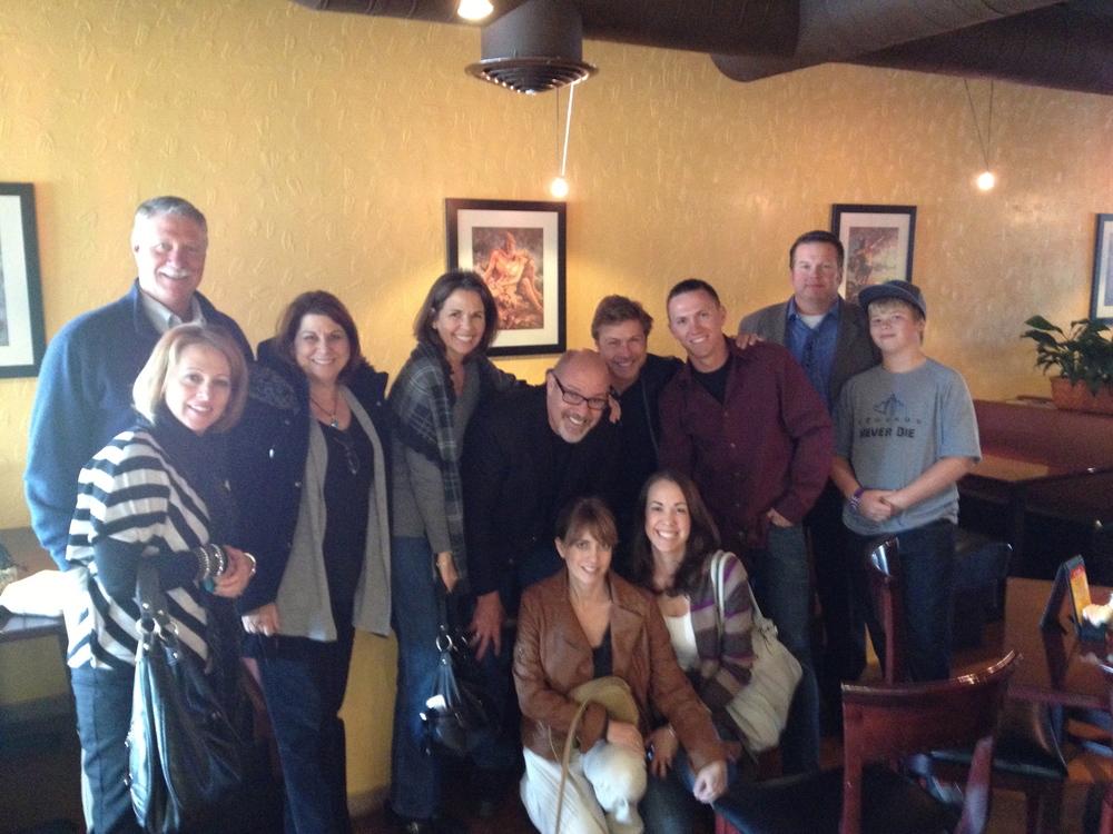 A way-good lunch afterwards with good friends, old and new. L-R, Dan Feilmeier, Sherrie Siegfreid, Bonnie Feilmeier, Deanna, me, Paula Miller, Dave Miller, Michelle (Sanborn), Adam, Shawn Siefreid, Shaden Siegfreid