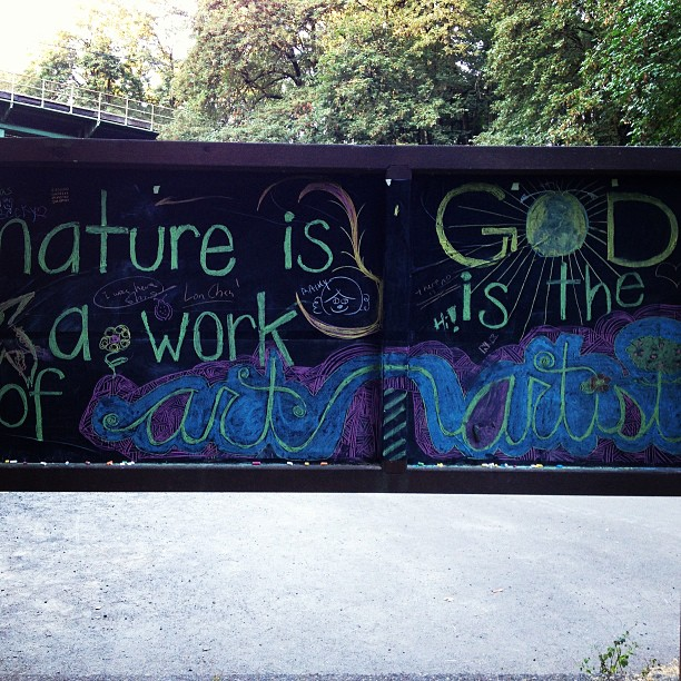 "An encouraging ""sign"" while on a run in Portland, OR"