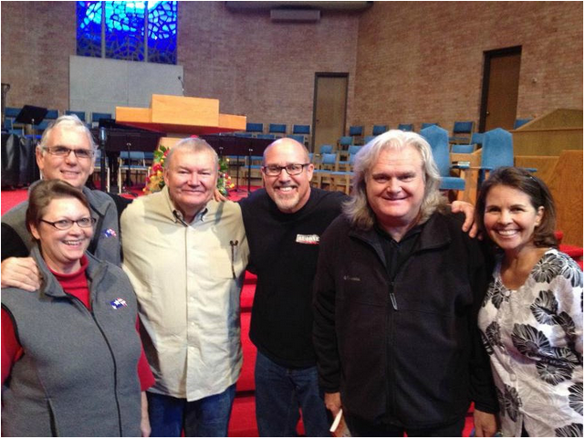 Snapped on Election Day in Nashville. L-R: Our friends Sarah & Rick Lowe (Sarah heads NDP for the southeastern states, Rick headed a 12-man, 24/7 prayer-shield for me throughout the 50 days), Rick White (our friend and pastor), me, Ricky Skaggs (even sweeter than he is gifted) and Deanna