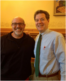 Friend and prayer partner, Governor Sam Brownback