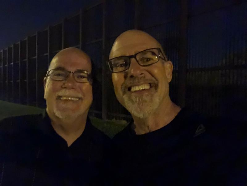 With Pastor Gary Whilhite along the border wall in the Rio Grande Valley, TX (Life-changing!)