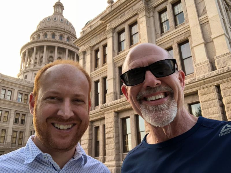 With my good buddy Seth Parker in Austin, TX