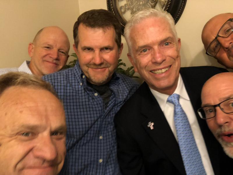 All these brothers have my back. L-R: Pastors Pasi Sikio, Mark Eaton & Rodney Lord,  Congressman Bill Johnson, Pastor Gordie Deer