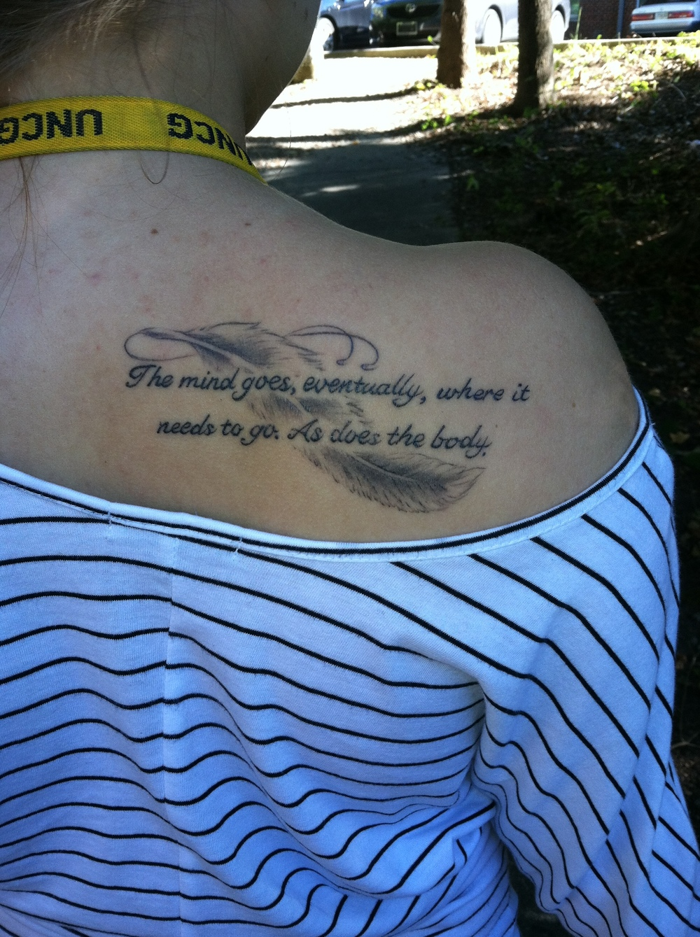 A friend of Avonlea's designed her tattoo.