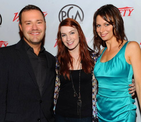 With  Felicia Day  and Mary Lynn Rajskub at the Producers Guild 'Digital 25'