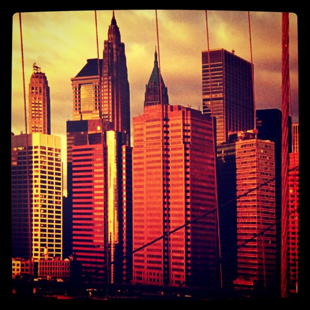 From the Brooklyn Bridge (Taken with instagram)