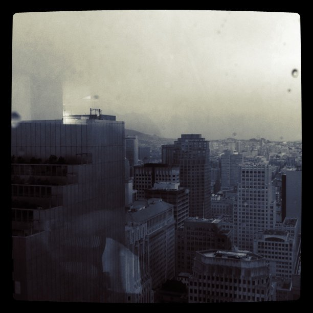 Lovely rainy morning in San Fran (Taken with Instagram at Starbucks - California & Davis)