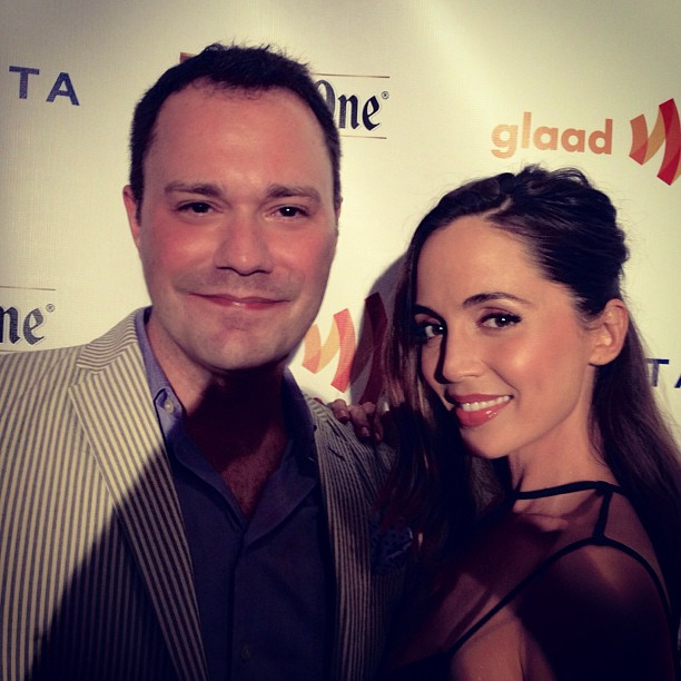 Wilson Cleveland and Eliza Dushku at GLAAD Manhattan 2013