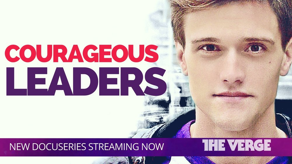 Hartley Sawyer hosts Courageous Leaders, a Vox documentary series streaming on The Verge
